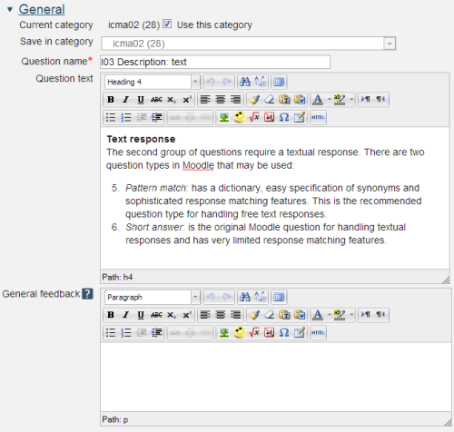 How to create questions in Moodle: View as single page