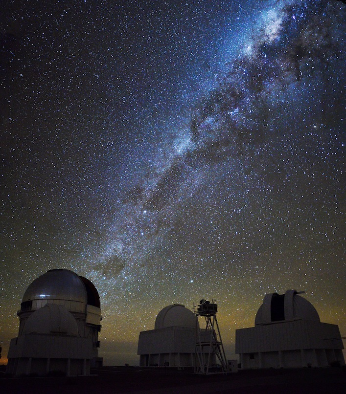 The plane of the Milky Way above the CTIO observatory in Chile