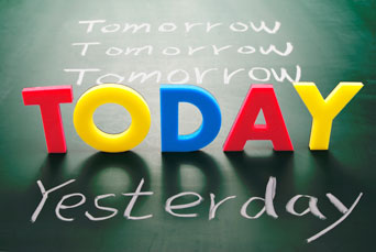 Today, yesterday and tomorrow