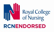 "RCN logo of 2 interlinked hands with ""RCN Endorsed"" underneath"