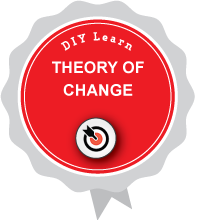 Illustration of DIY Learn THEORY OF CHANGE digital badge