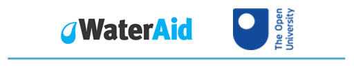 WaterAid and Open University logos