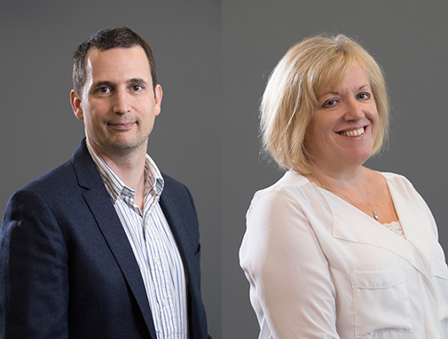 Photographs of the course leaders (Owain and Carol).