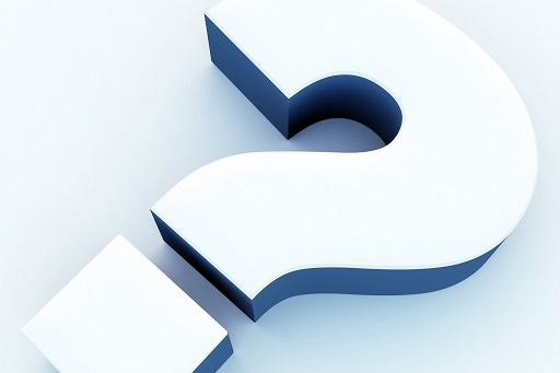 Image of a large, white, 3D question mark.