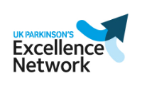 UK Parkinson's Excellence Network logo with arrows