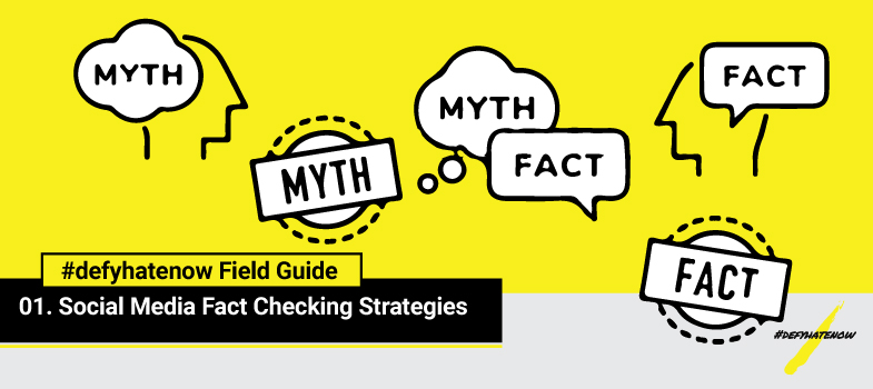 #defyhatenow Social Media Fact Checking Strategies