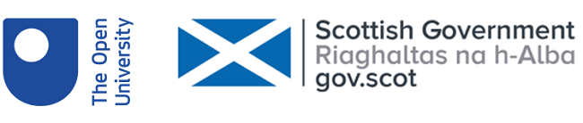 OU and Scottish Government logos