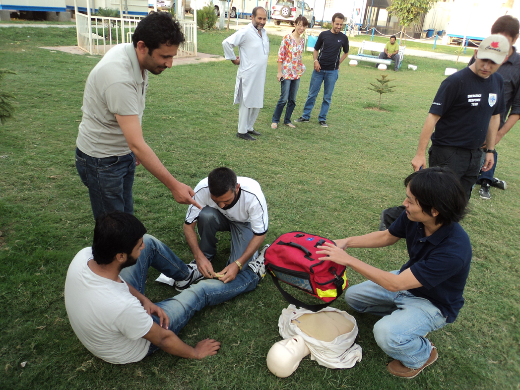 Basic Life Support for communities in Pakistan.