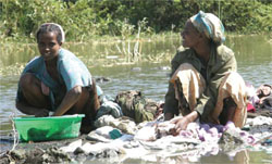 Clothes from someone with cholera should not be washed in water that people use for bathing or drinking