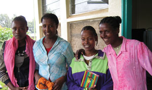 These young women have been successfully treated for podoconiosis