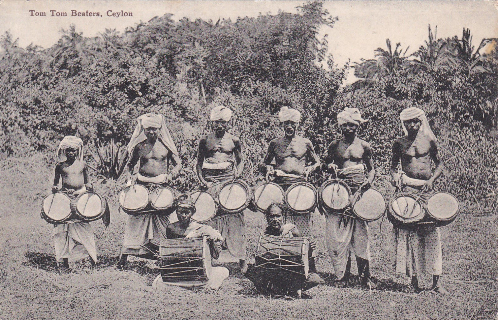 Group of Sri Lankan drummers pictured