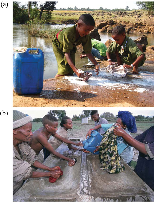 Washing clothes in rural areas