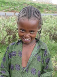 A happy rural child