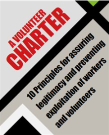 An image of the from page of the Volunteer Charter document informing of the 10 principle to be covered in this course