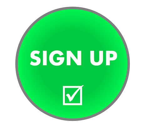 Green circle with the words sign up and a checked tick box displayed in white