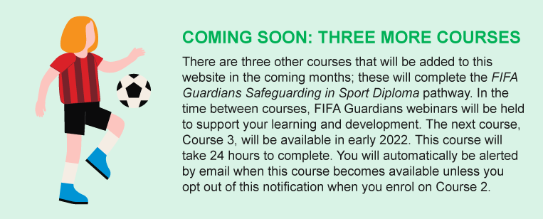 COMING SOON: THREE MORE COURSES. There are three other courses that will be added to this website in the coming months...