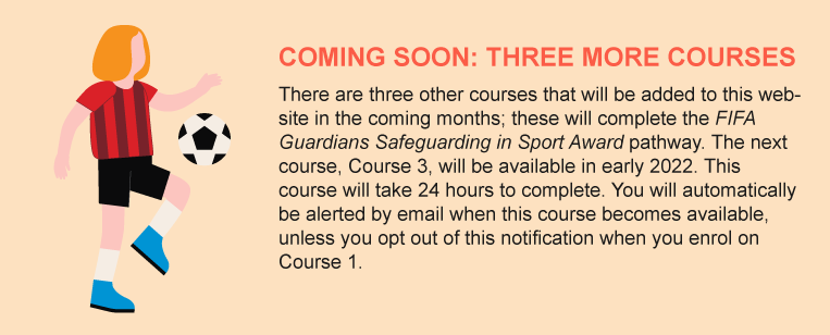 COMING SOON: THREE MORE COURSES There are three other courses that will be added to this website in the coming months.