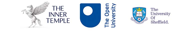 logos of The Inner Temple, The Open University and The University of Sheffield