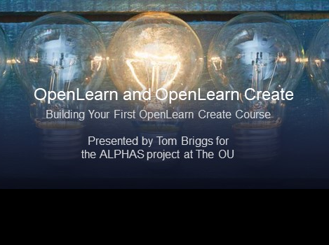 Building Your First OpenLearn Create Course