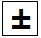 Plus and minus symbol to enter negative number