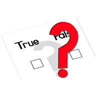 """Two tick boxes labelling """"true"""" and """"false"""" with a question mark"""