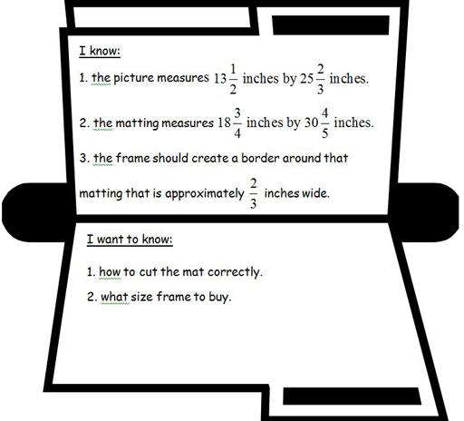 Box file with data about picture frame