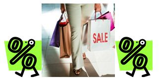 Percentage sign, Shopping bags, Percentage sign