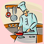 Lady cooking