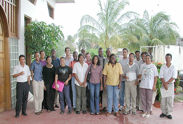 A group photo of Guyanese people