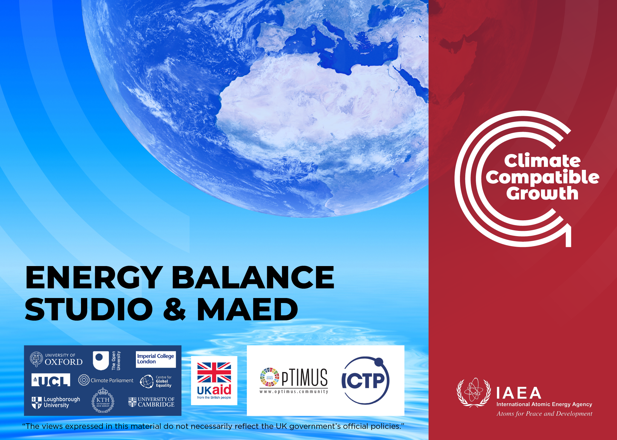 Energy Balance Studio and MAED (demand projections)