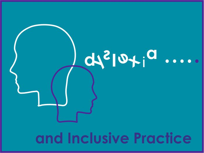 Outlines of two heads with the words Dyslexia and Inclusive Practice