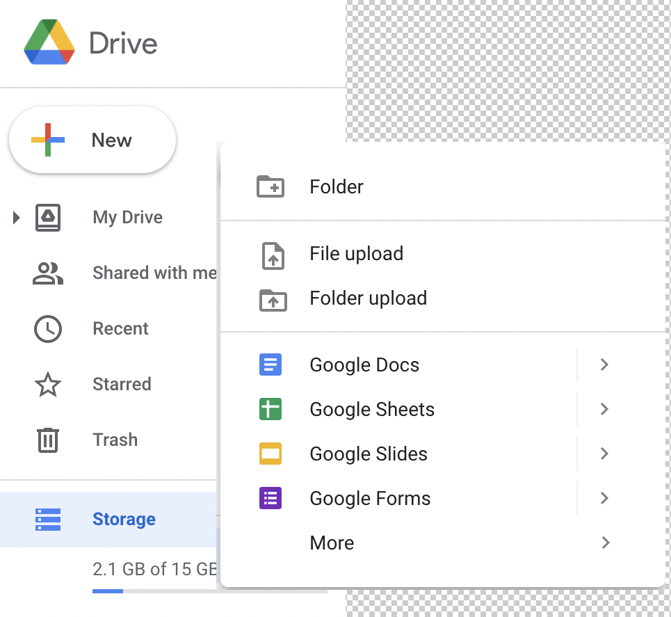 overview main Google Drive features