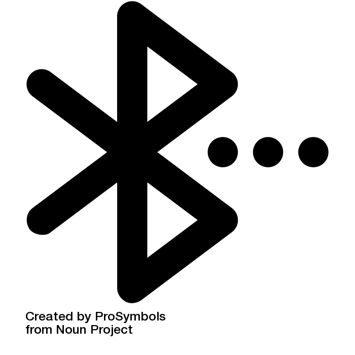 The Bluetooth symbol that indicates that a device has Bluetooth capabilities