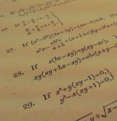 Picture of mathematical equations
